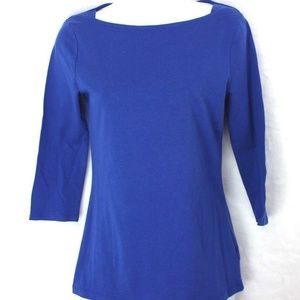 Merona Boat Neckline Top  XS Purple 3/4 Sleeve
